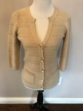 EUC Juicy Couture Wool Rabbit Hair Cashmere Blend Cream Cardigan SZ S