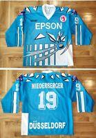 DEG Düsseldorf Trikot 1993/94 A. Niederberger Game Worn Spielertrikot Epson Vic