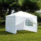 SALE 2.5x2.5m Pop Up Gazebo With Sides Waterproof Outdoor Garden Marquee White