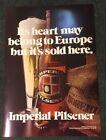 IMPERIAL PILSENER BEER VINTAGE SIGN HORLACHER BREWING CO ALLENTOWN PA