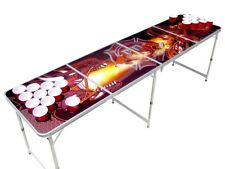Firefighter Dragon Beer Pong Table with holes.