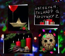 Lot of 4 Horror Christmas Cards - Stranger Things, IT, Jason, Freddy Krueger '17