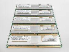 (5)Qimonda 2GB DDR2 ECC RAM Memory 2Rx4 PC2-5300F-555-11-H0 HYS72T256420HFN-3S-B