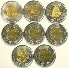 2010 to 2015 Canada $2 Lot of 8 Uncirculated No Duplicates #503