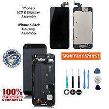 NEW Complete LCD Assembly + Back Cover Housing Replacement iPhone 5 BLACK