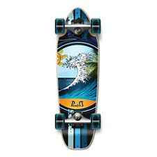 WAVE Natural Graphic Complete Longboard Mini Cruiser