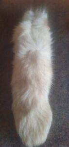 Authentic Fox Fur Keychain Tassel Bag Tag Handbag Tail Pendant Key Ring 100% Fur