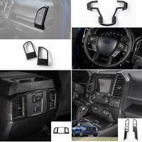 Black Wood Grain Interior Frame Decor Trim Cover Full set For Ford F150 2015+ 8x