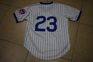 New! Ryan Ryne Sandberg Chicago Cubs Pinstripe Pull-Over Baseball Jersey Men's L
