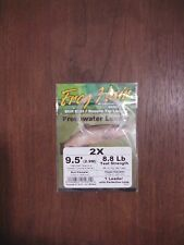 Fly Fishing Frog Hair 9.5' Freshwater Tapered Leader - 2x - 8.8 lb