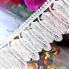 Embroidery  Cotton Crochet Lace Trim 7.5cm Wide lovely Leaf 1 yard