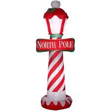 Christmas Outdoor Decor Airblown Inflatable North Pole 7-Feet Tall Backyard Yard