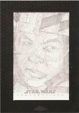 "Star Wars Chrome Perspectives - Mikey Babinski ""Wes Janson"" Sketch Card"
