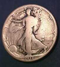 1916-S Walking Liberty Half Dollar ~Obverse Mint Mark ~1st Year Issue Make Offer