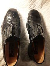 NEW $1600+ AVVENTURA Black Genuine Alligator Crocodile Boots Loafers Shoes 8 M