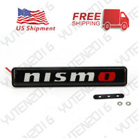 Luminescent LED Light Nismo Car Front Bumper Grille Emblem Badge Decal Sticker