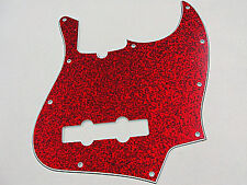D'ANDREA PRO JAZZ BASS PICKGUARD 10 HOLE RED SPARKLE MADE IN THE USA
