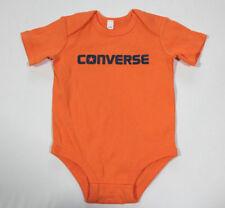 Neuf ALL STAR converse bébé garçon grenouillère costume orange gr.65-70 3-6 mois