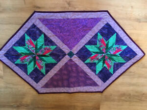 """Hand Made Quilted  Table Top Runner 23"""" x 41"""""""