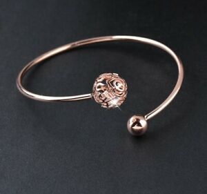 Open Ended Bangle with Loose Crystals  - New In Gift Box