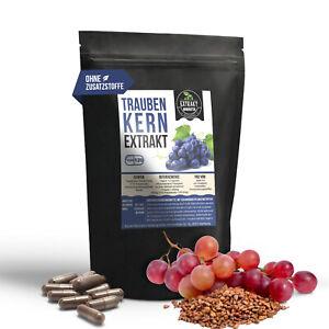 Traubenkernextrakt OPC Extrakt | 550mg Kapseln | ohne Zusatzstoffe vegan grape