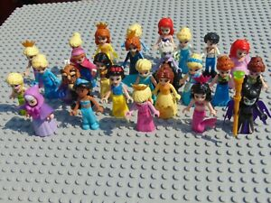 Disney Princess Mini Figures Frozen,Ursula,Maleficent, Aurora,Belle Jasmine Elsa