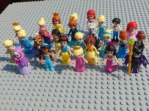 Disney Princess Mini Figures Frozen,Ursula,Maleficent, Aurora,Belle Jasmine Elsa