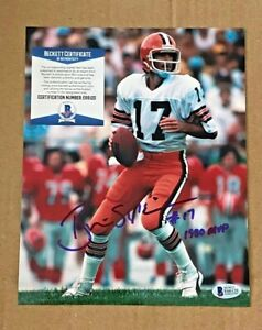 BRIAN SIPE SIGNED CLEVELAND BROWNS 8X10 PHOTO W/1980 MVP BECKETT CERTIFIED