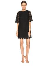 NWT $448 KATE SPADE *RARE* DAISY LACE BLACK SHIFT DRESS 4