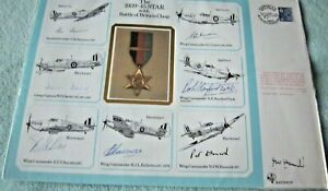 1985 RAF (DM)10 THE 1939-45 BATTLE OF BRITAIN CLASP MULTI SIGNED LARGE COVER