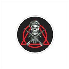 Gun Cross Captain Skull Vinyl Car Door Window Bumper Sticker Decal Laptop Decor