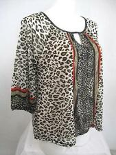 Apt 9 Size 1X 3/4 Raglan Sleeve Mistos Tan Peasant Style Top with Lining