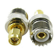 UHF SO-239 SO239 Female to SMA Male Plug Connector Coaxial Adapter Durable