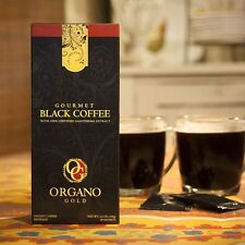 1 Box Organo Gold Black Coffee Cafe Negro of 30 each