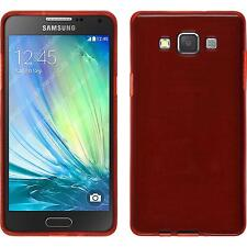 Coque en Silicone Samsung Galaxy A3 (A300) - brushed rouge + films de protection