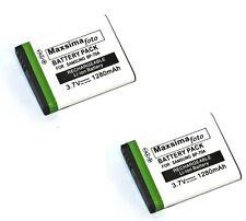 2x Maxsimafoto BP-70A 1280mAh Battery for Samsung SL600 ES65 SL50 SL630 PL80  UK