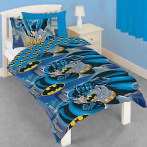 Official Batman DC Comics Logo Bedding 2 in 1 Reversible Single Duvet Cover Set