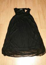 Gorgous black chiffon layered SODA MIX long top size 10 12