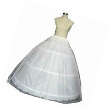Diandiai White Ball Gown Petticoat Quinceanera Dresses Crinoline Underskirt for