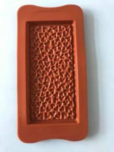 heart pattern chocolate bar/slab silicone mould - wax melts, chocolate 16cmx8cm