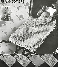 Vintage Pram Cover Knitting patterns- 5 pretty & easy designs to keep baby warm