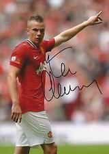 MAN UNITED * TOM CLEVERLEY SIGNED 7X5 ACTION PHOTO+COA