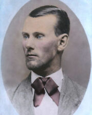 "JESSE JAMES AMERICAN OLD WEST OUTLAW 1882 8x10"" HAND COLOR TINTED PHOTOGRAPH"