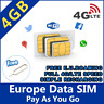 EU SIM card holiday trip 7GB data Internet Spain France Italy Greece Portugal 4G