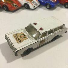 VINTAGE 1971 MATCHBOX SUPERFAST #55 WHITE MERCURY POLICE CAR STATION WAGON 1:64