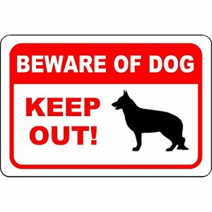"""Warning Beware of Dog Keep Out Aluminum Sign 12"""" x 8"""" - UV Resistant"""