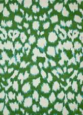 Indian Hand Tufted Green Wool and Viscose Animal Pattern 2'x3' Modern Area Rug