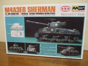 MITSUWA motorized WWII M4A3E8 US Army tank Sherman 1:48 NOS model JAPAN kit 854