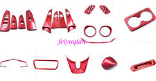 19x Red ABS Interior Kit Panel Decor adorn Cover Trim For Kia Forte K3 2019 2020