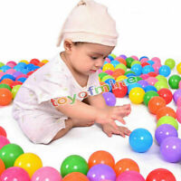 500 pcs Baby Kid Pit Toy Game Swim Pool Soft Plastic Ocean Ball 5.5cm US